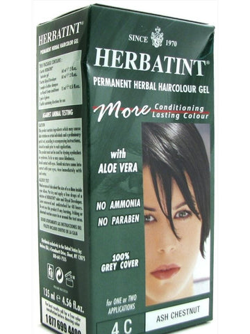 Herbatint Hair Color, Herbatint 4C, Ash Chestnut