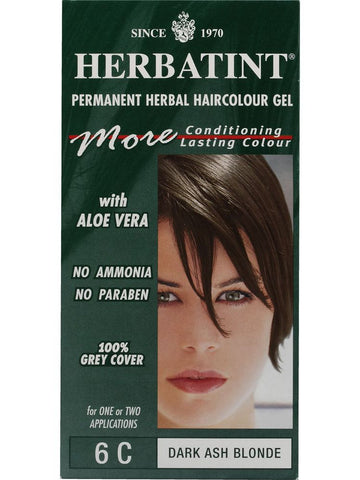 Herbatint Hair Color, Herbatint 6C, Dark Ash Blonde