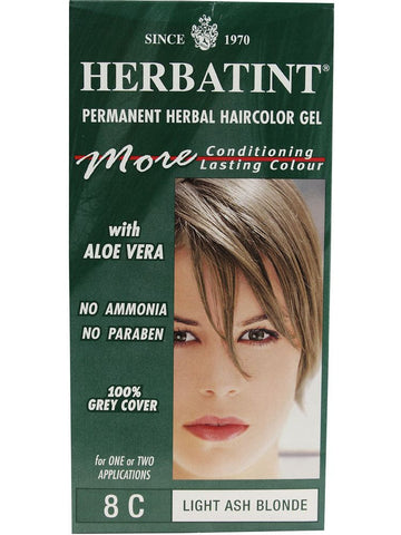Herbatint Hair Color, Herbatint 8C, Light Ash Blonde
