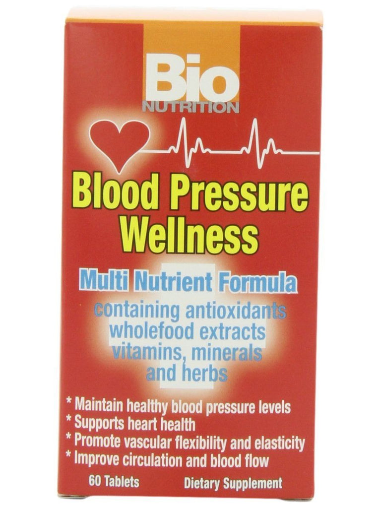 Bio Nutrition, Blood Pressure Wellness, 60 tabs