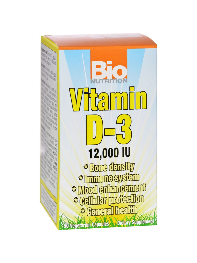 Bio Nutrition, D3 12000 IU, 50 vegicaps