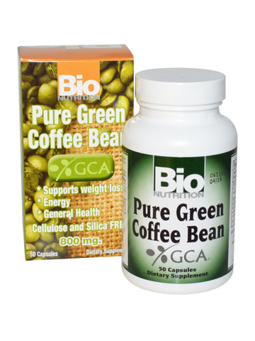 Bio Nutrition, Pure Green Bean Coffee, 50 caps