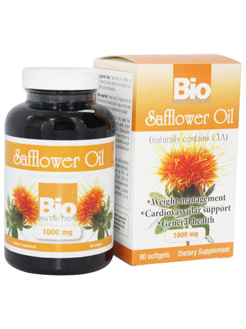 Bio Nutrition, Safflower 1 000mg, 90 softgels
