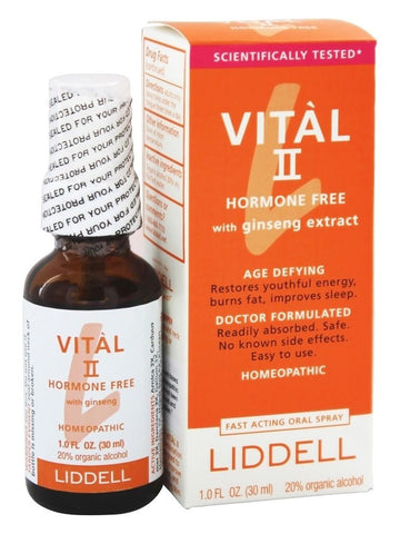 Liddell Homeopathic, Vital II Hormone Free with Ginseng, 1 oz