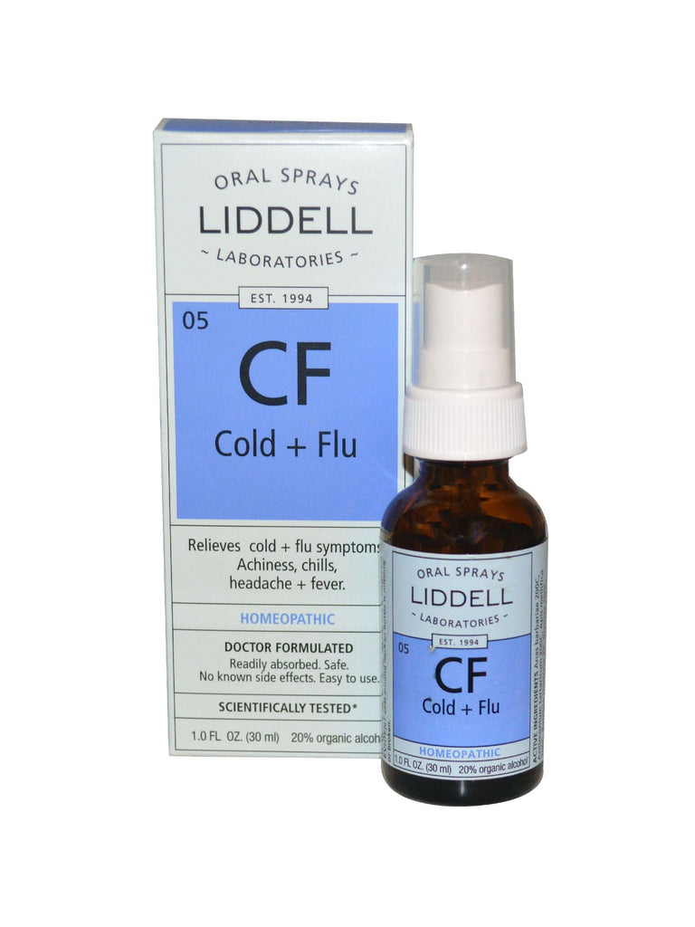 Liddell Homeopathic, Cold & Flu Spray, 1 oz