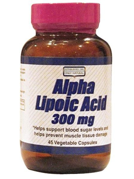 Only Natural, Alpha Lipoic Acid Antioxidant 300mg, 45 vegicaps