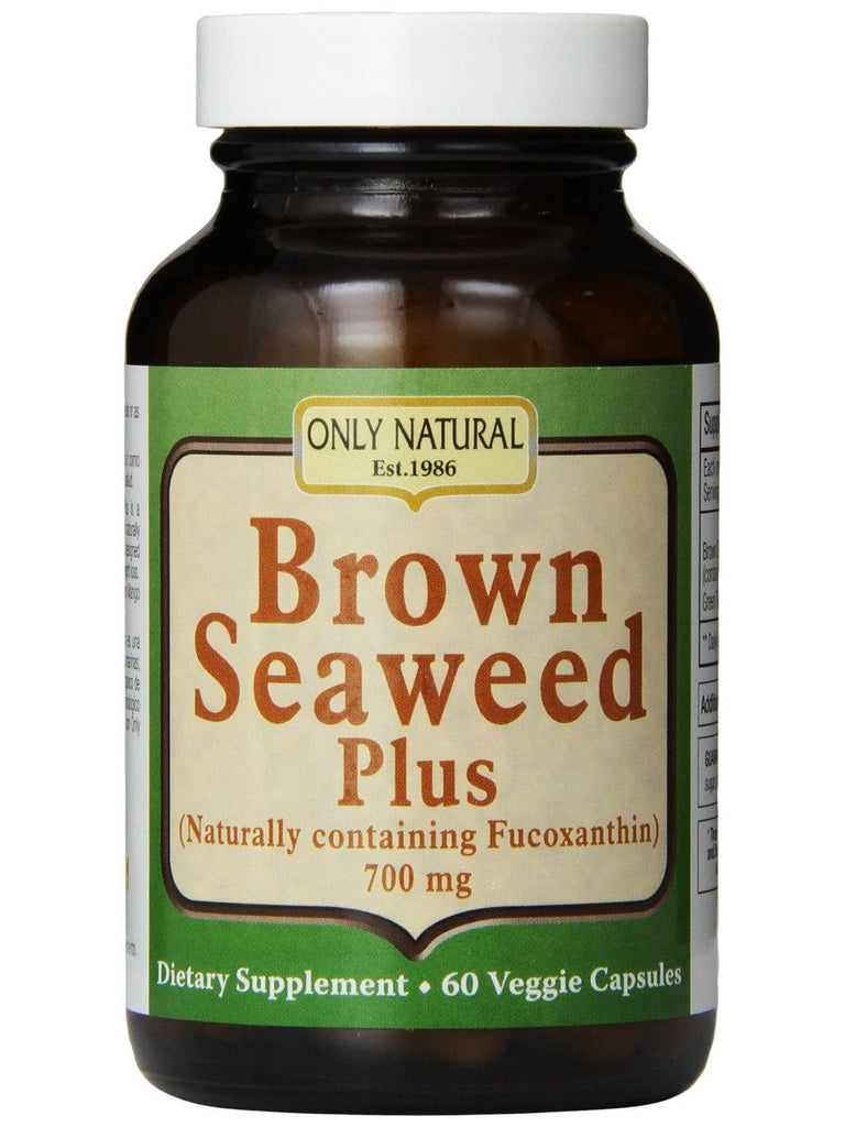 Only Natural, Brown Seaweed Plus 700mg, 60 vegicaps