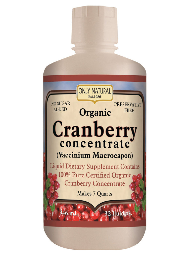 Only Natural, Cranberry Concentrate (Organic), 32 oz