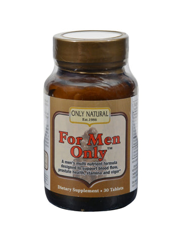 Only Natural, For Men Only, 30 tabs