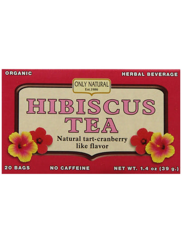 Only Natural, Hibiscus Tea Organic, 20 bags