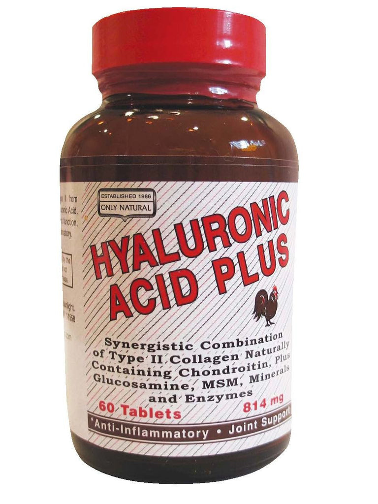 Only Natural, Hyaluronic Acid Plus, 60 tabs