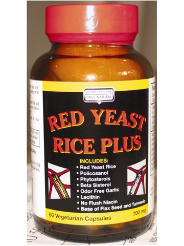 Only Natural, Red Yeast Rice Plus, 60 vegicaps