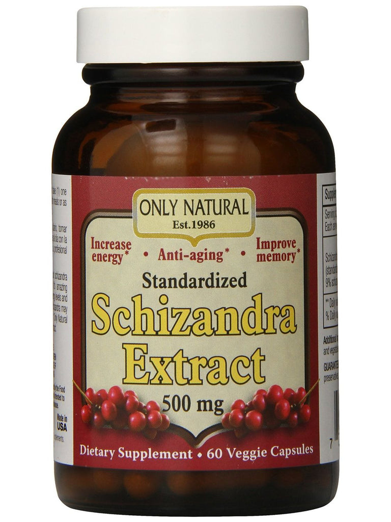 Only Natural, Schizandra Extract 500mg, 60 vegicaps