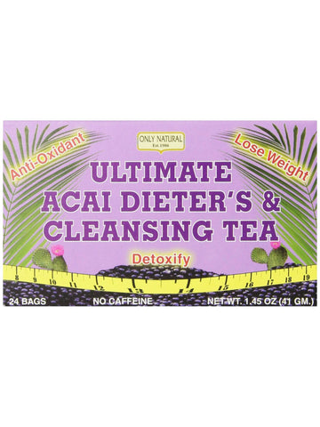 Ultimate Acai Dieter's & Cleansing Tea, 24 bags, Only Natural