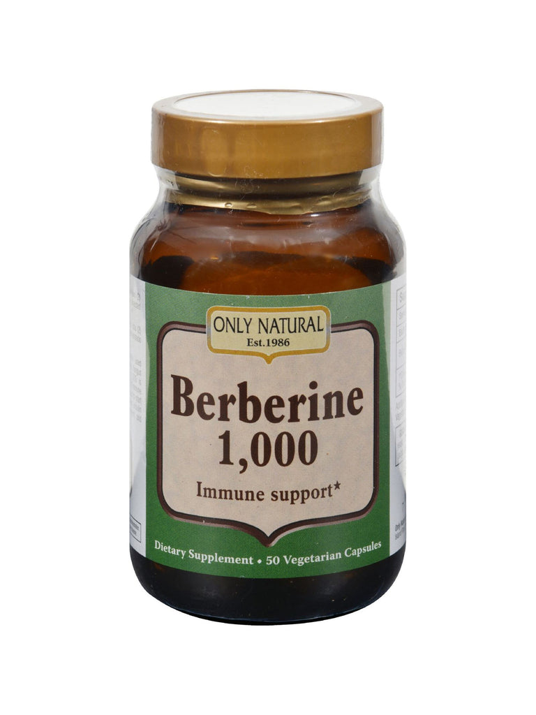 Only Natural, Berberine 1 000 500mg Immune Support, 50 vegicaps