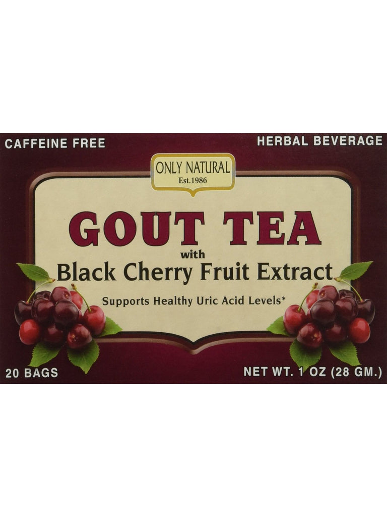 Only Natural, Gout Tea with Black Cherry Fruit Extract, 20 bags