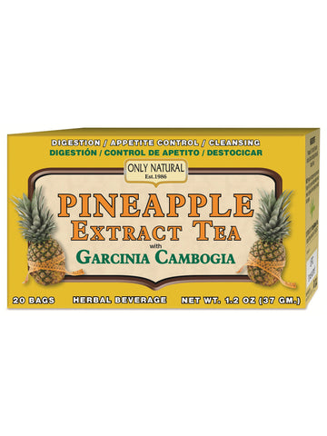 Only Natural, Pineapple Tea with Garcinia Cambogia, 20 bags