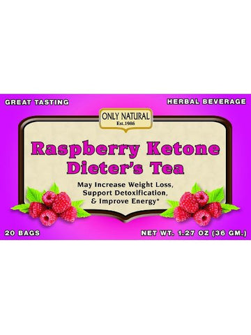 Raspberry Ketones Dieter's Tea, 20 bags, Only Natural