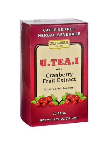 Only Natural, U-Tea-I with Cranberry Fruit Extract, 20 bags