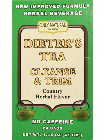 Dieter's Cleansing Tea Herbal, 24 bags, Only Natural