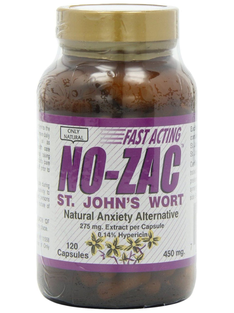 No-Zac St John's Wort 450 mg, 120 caps, Only Natural