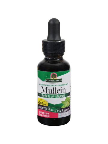 Mullein Leaves Extract, 1 oz, Nature's Answer