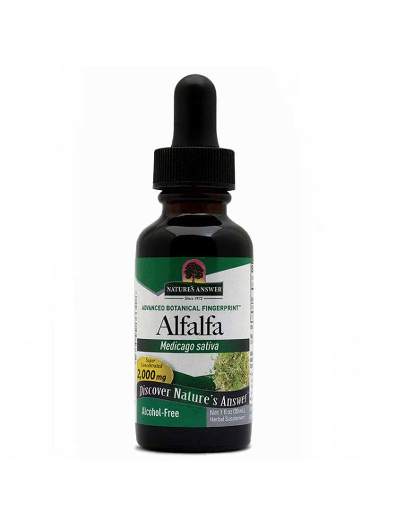 Alfalfa Alcohol Free Extract, 1 oz, Nature's Answer