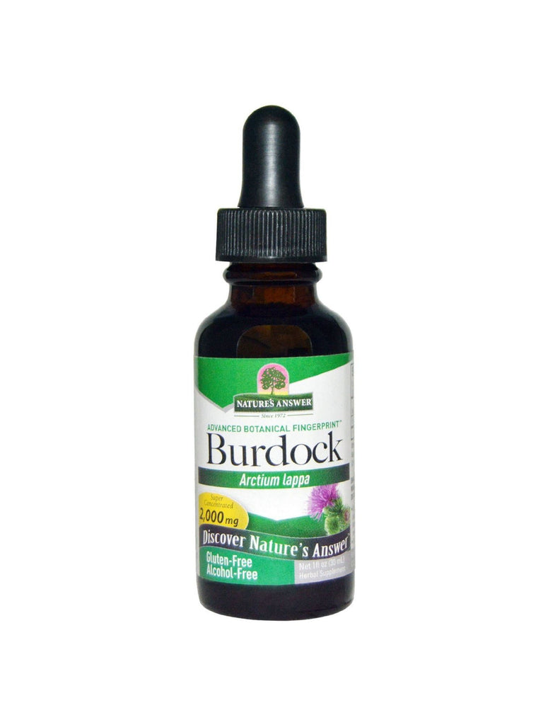 Burdock Root Alcohol Free Extract, 1 oz, Nature's Answer