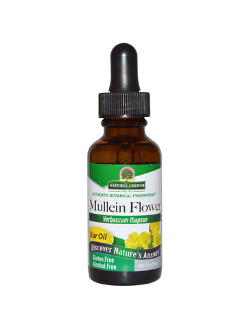 Mullein Flower Oil Extract, 1 oz, Nature's Answer