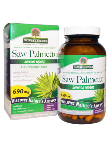 Saw Palmetto Berry Extract, 120 vegicaps, Nature's Answer