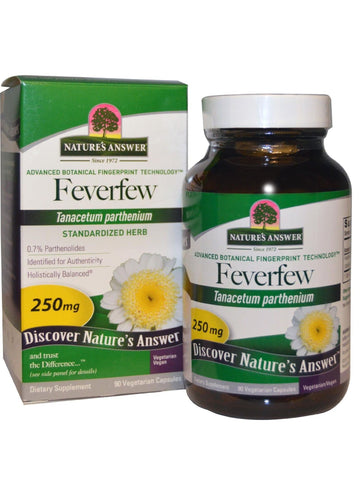 Feverfew Herb Standardized, 90 vegicaps, Nature's Answer