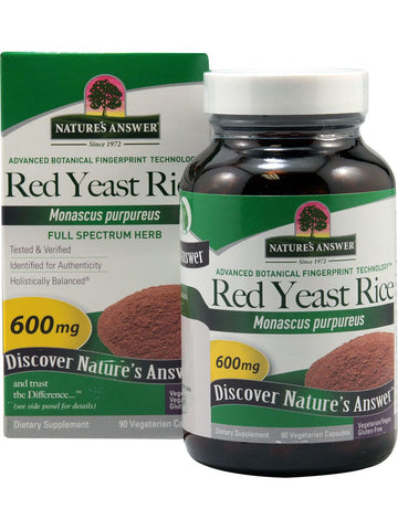 Red Yeast Rice 600mg, 90 caps, Nature's Answer