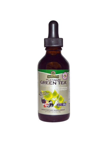 Platinum Super 7 Green Tea w/ORAC Mixed Berry Flavor, 2 oz, Nature's Answer