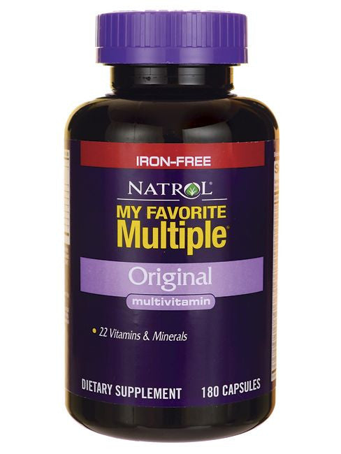 Natrol, My Favorite multiple No Iron, 180 ct