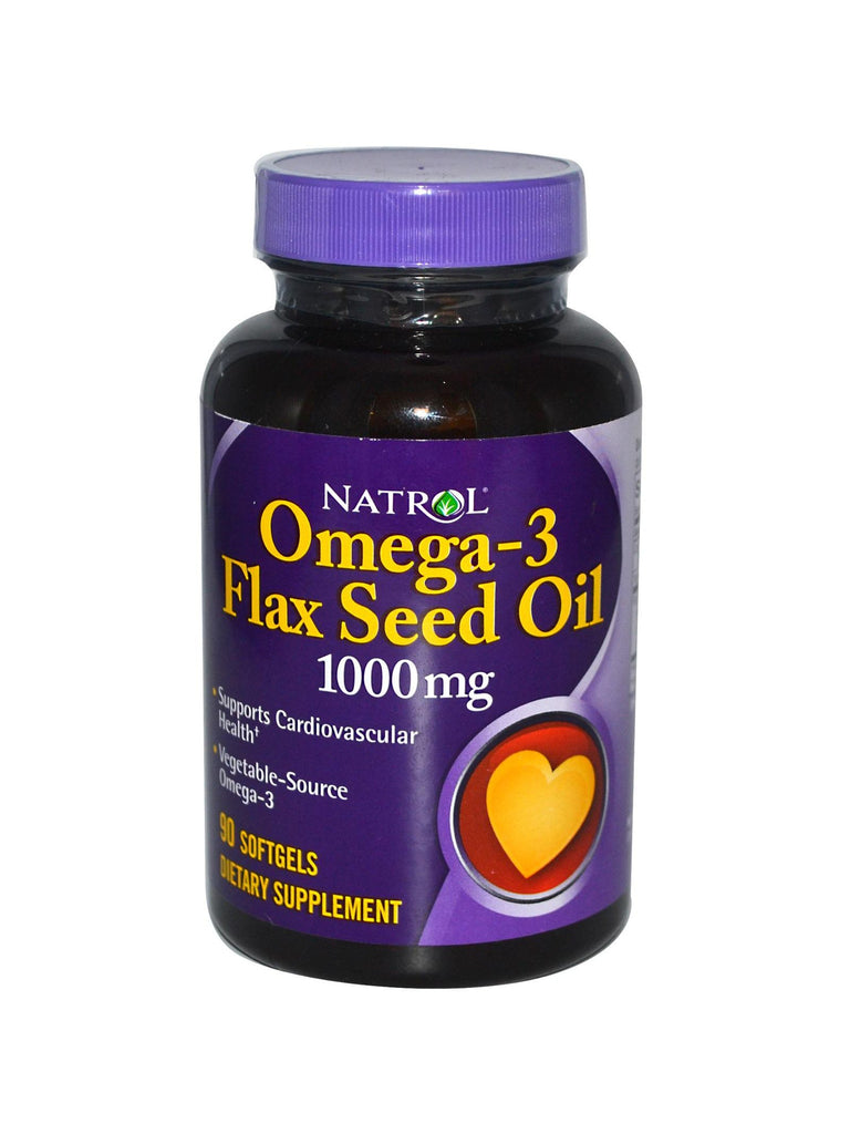 Natrol, Flax Seed Oil, 1000mg, 90 softgels
