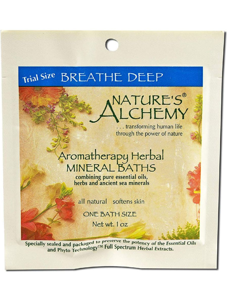 Nature's Alchemy, Breathe Deep Aromatherapy Mineral Bath, 1 oz