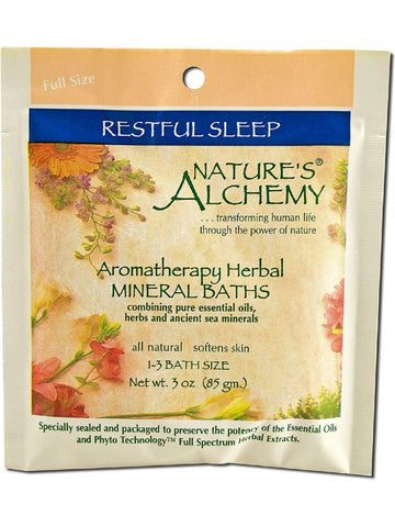 Nature's Alchemy, Restful Sleep Aromatherapy Mineral Bath, 3 oz