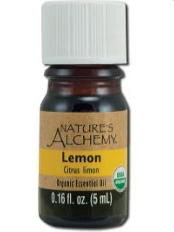Nature's Alchemy, Lemon Organic Essential Oil, 5 ml
