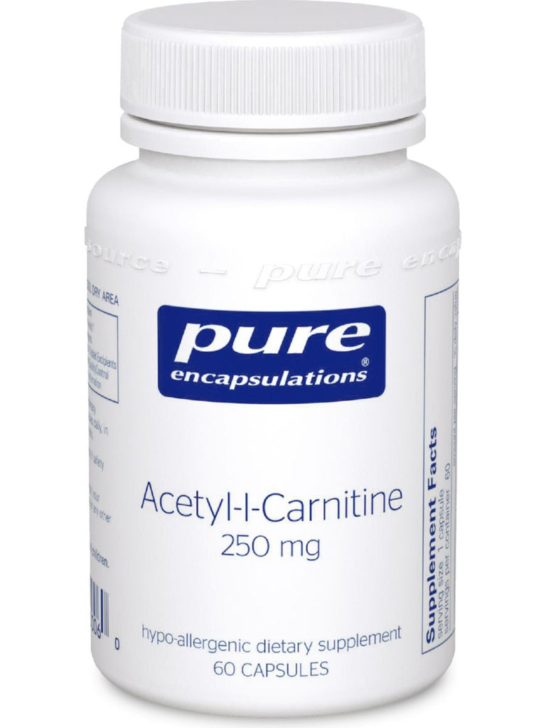 Pure Encapsulations, Acetyl-L-Carnitine, 250 mg, 60 vcaps