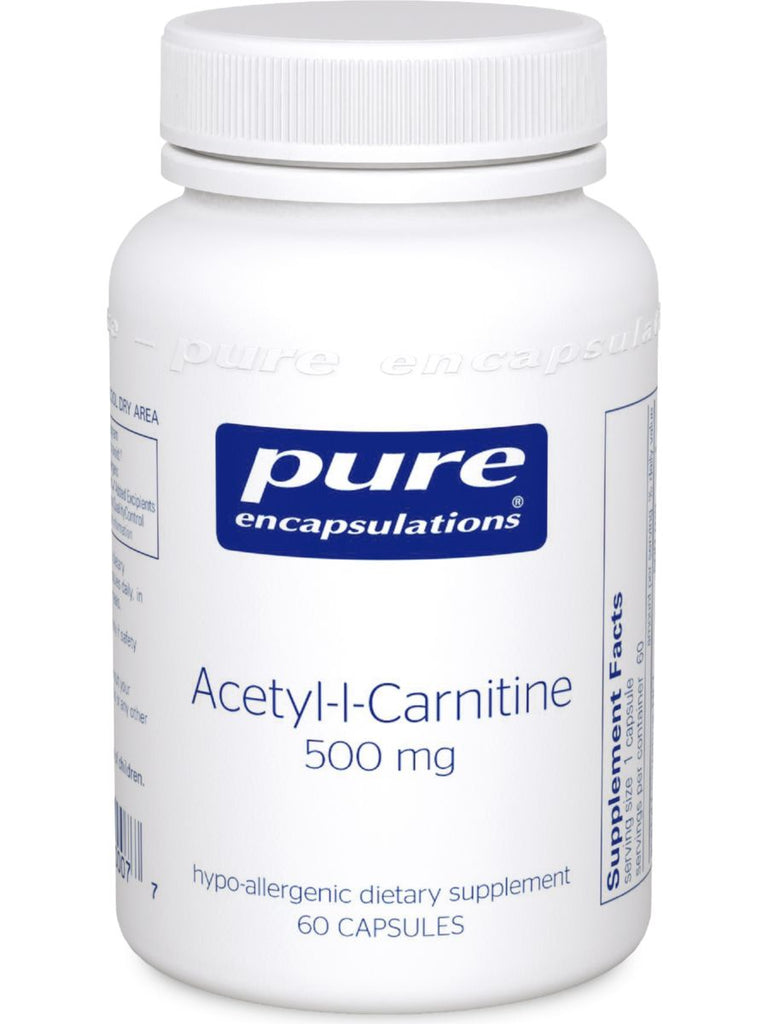 Pure Encapsulations, Acetyl-L-Carnitine, 500 mg, 60 vcaps