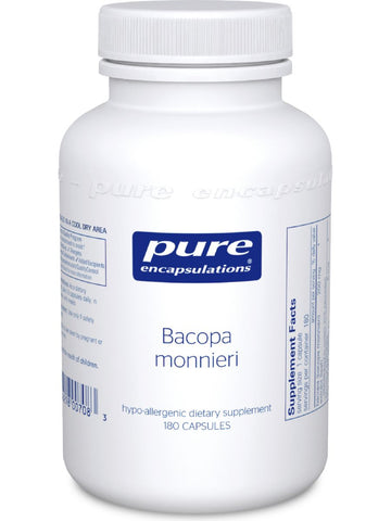 Pure Encapsulations, Bacopa monniera, 200 mg, 180 vcaps