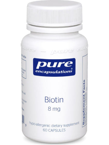 Pure Encapsulations, Biotin, 8 mg, 60 vcaps