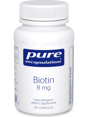 Pure Encapsulations, Biotin, 8 mg, 120 vcaps