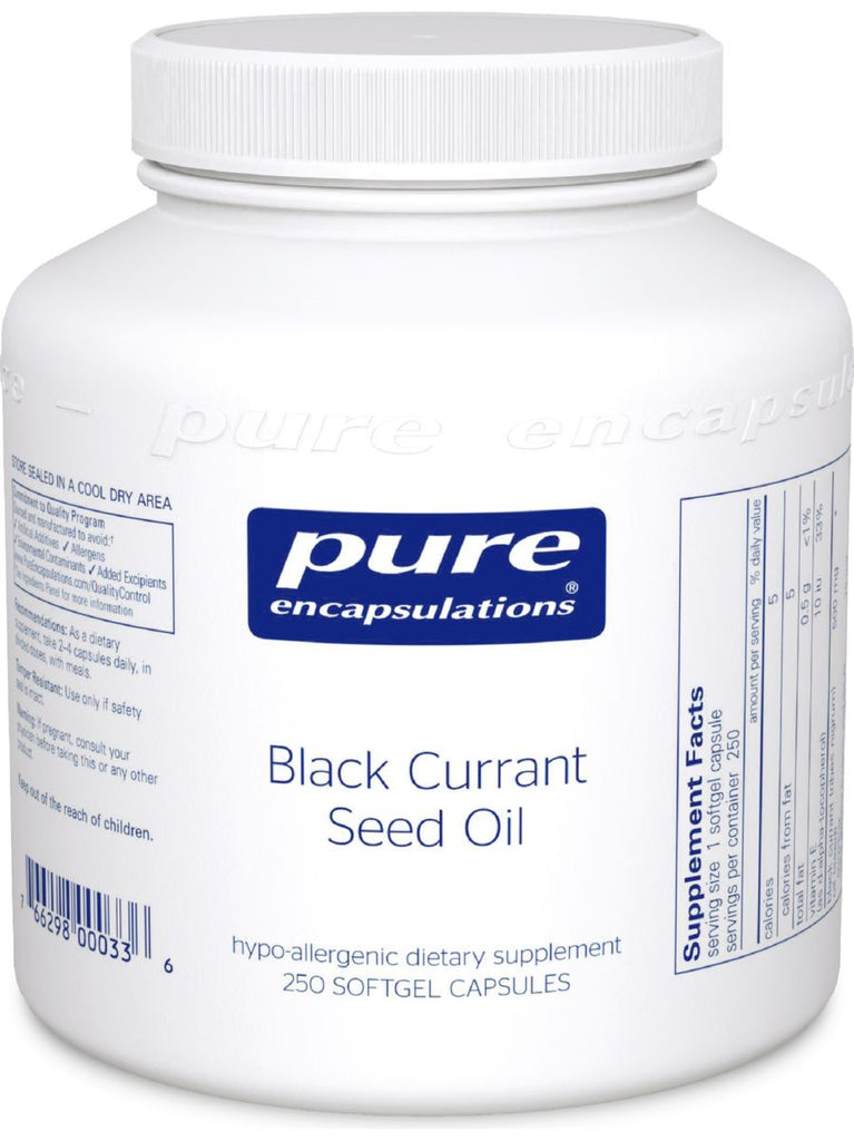 Pure Encapsulations, Black Currant Seed Oil, 500 mg, 250 gels