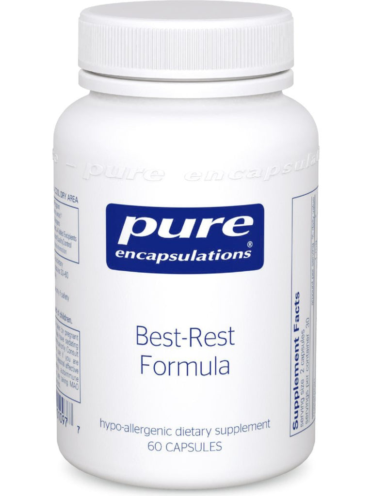 Pure Encapsulations, Best-Rest Formula, 60 caps