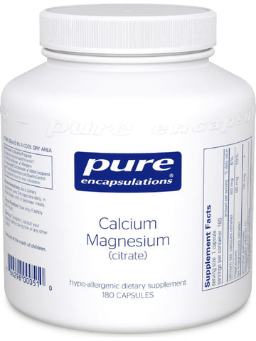 Pure Encapsulations, Calcium Mag (citrate), 80 mg, 180 vcaps