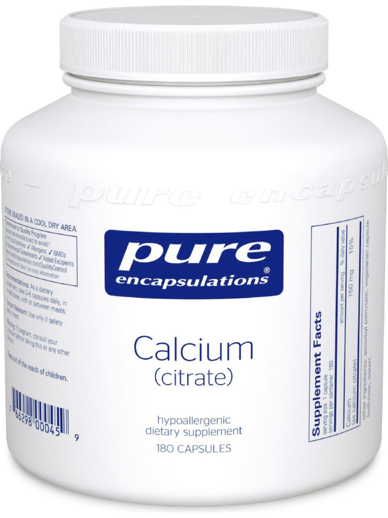 Pure Encapsulations, Calcium Citrate, 150 mg, 180 vcaps