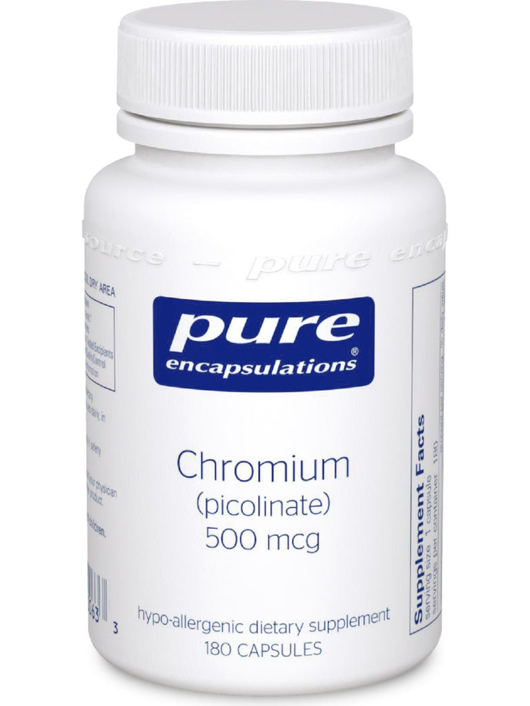 Pure Encapsulations, Chromium (picolinate) 500 mcg, 180 vcaps