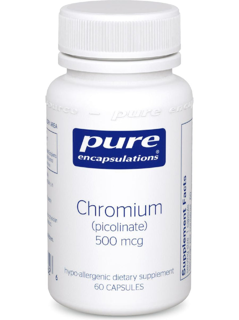 Pure Encapsulations, Chromium (picolinate) 500 mcg, 60 vcaps