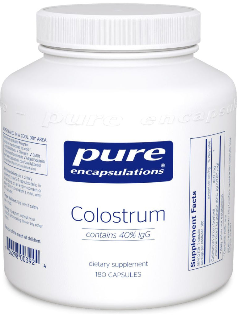 Pure Encapsulations, Colostrum 40% IgG, 450 mg, 180 vegcaps